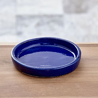 Festive Small Cobalt Saucer