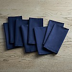 Fete Navy Blue Cloth Napkins, Set of 8
