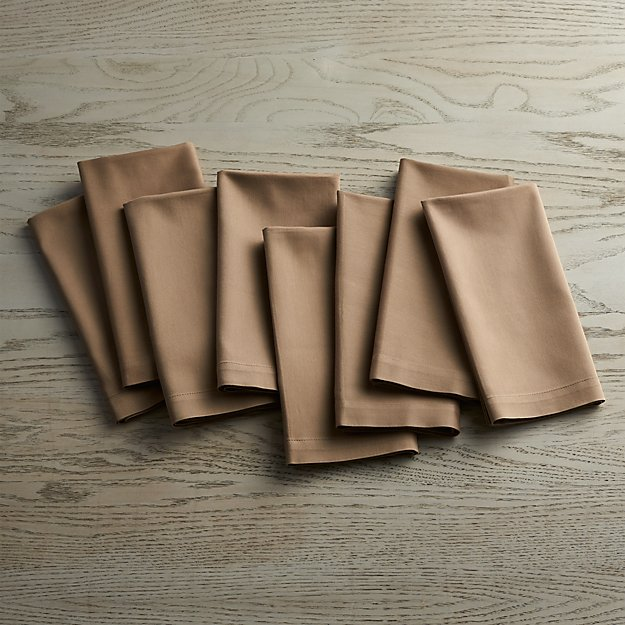 Fete Brindle Brown Cloth Napkins Set of Eight