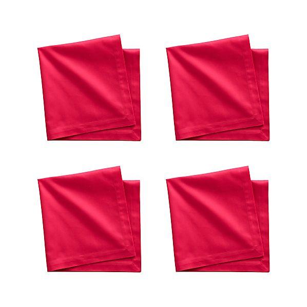 Set of 4 Fete Azalea Cotton Napkins