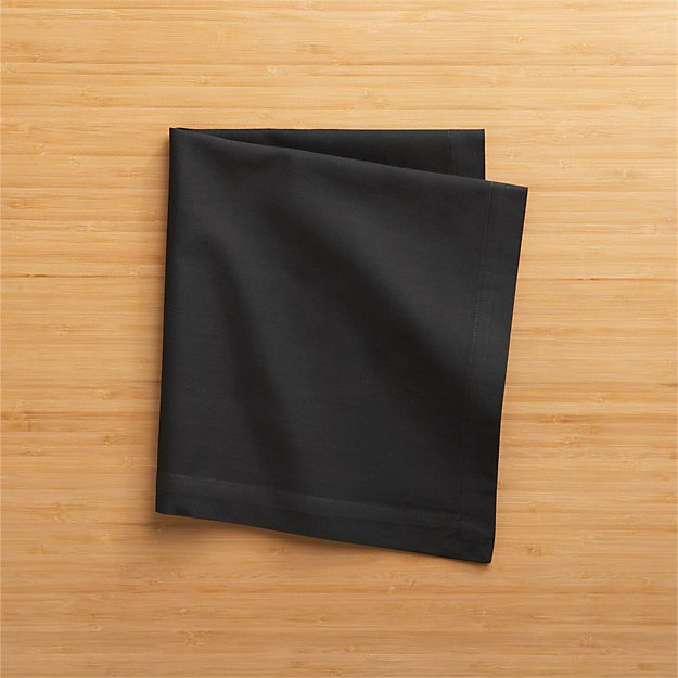 Fete Black Cloth Napkin - Image 1 of 11