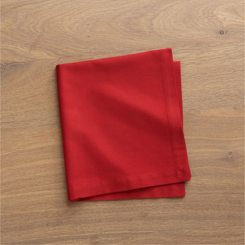 """Soft cotton napkins mix and match gorgeous tones of saturated color. Elegant yet easy-care napkin is tailor finished with 1"""" hem and mitered corners.<br /><br /><NEWTAG/><ul><li>100% cotton</li><li>Machine wash cold, tumble dry; warm iron as needed</li></ul>"""