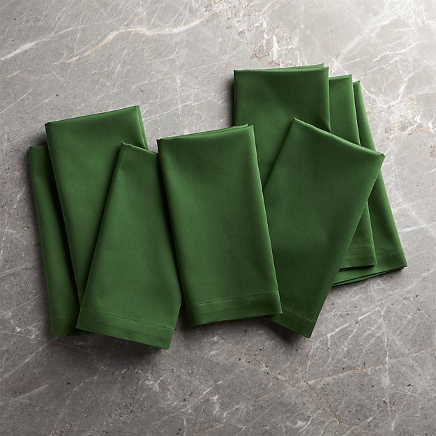 Fete Dark Green Cotton Napkin, Set of 8 - Image 1 of 1