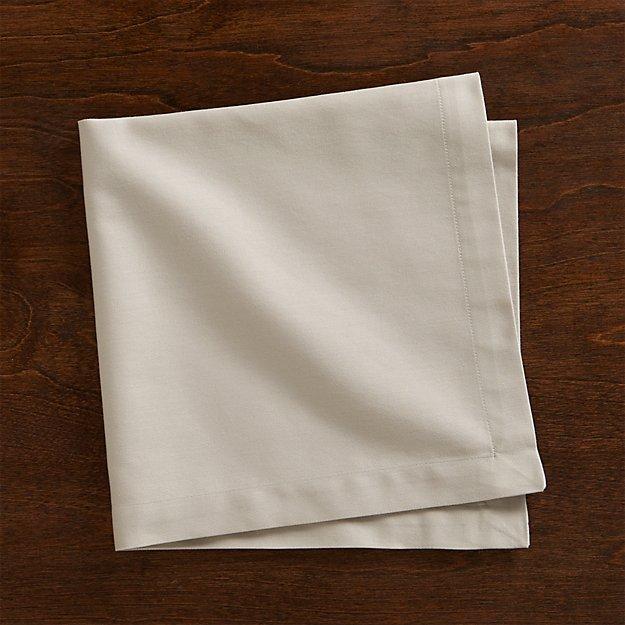 Fete Dove Grey Cloth Napkin - Image 1 of 12