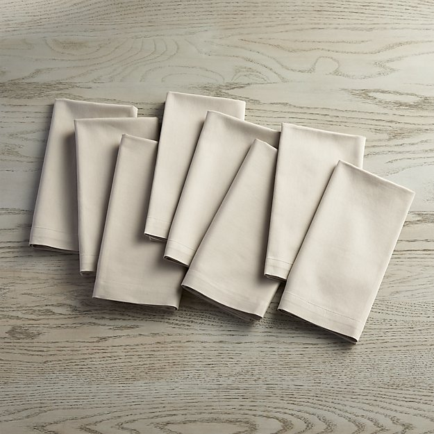 Fete Dove Grey Cloth Napkins, Set of 8