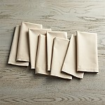 Fete Ecru Ivory Cloth Napkins, Set of 8