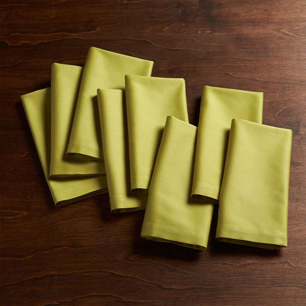 Fete Green Cloth Napkins Set of Eight - Crate and Barrel