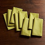 Fete Green Cloth Napkins, Set of 8