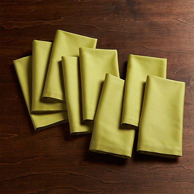 Fete Green Cloth Napkins, Set of 8