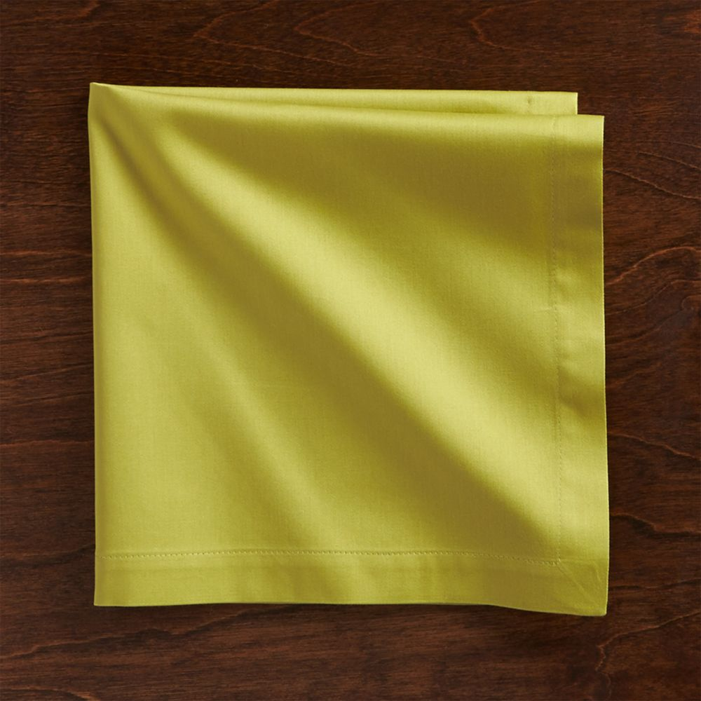 Fete Green Cloth Napkin - Crate and Barrel