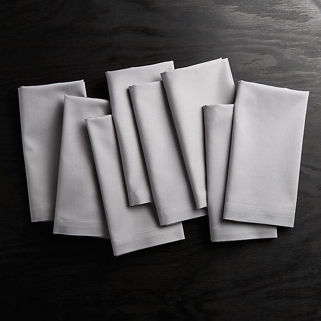 Fete Grey Cloth Dinner Napkins, Set of 8 - Image 1 of 1