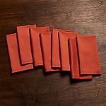 Fete Orange Cloth Dinner Napkins, Set of 8