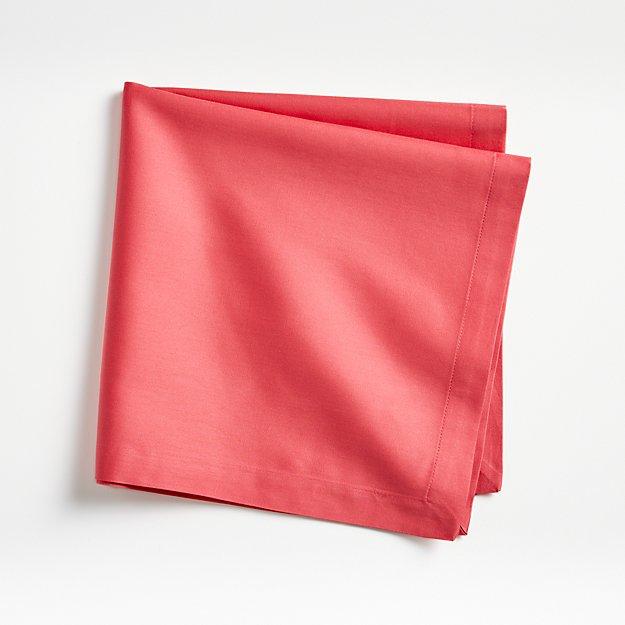 Fete Raspberry Red Cotton Napkin - Image 1 of 4
