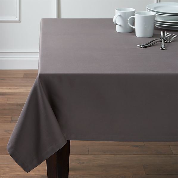 "Fete 60""x120"" Pewter Grey Tablecloth"