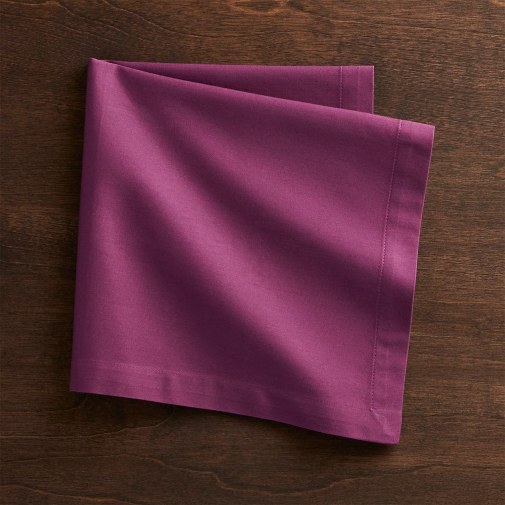 Fete Violet Cloth Napkin - Crate and Barrel