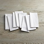 Fete White Cloth Napkins, Set of 8