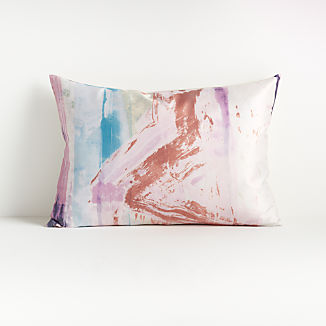 "Fiale Pink Abstract Pillow 22""x15"""