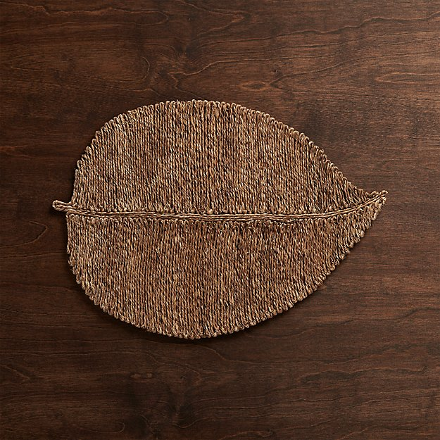 Fiber Leaf Placemat Reviews Crate And Barrel
