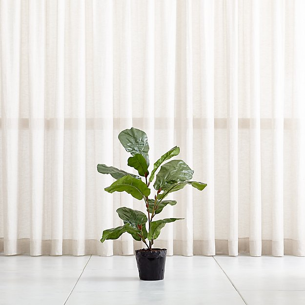 Faux 3.5' Fiddle Leaf Fig Tree - Image 1 of 12