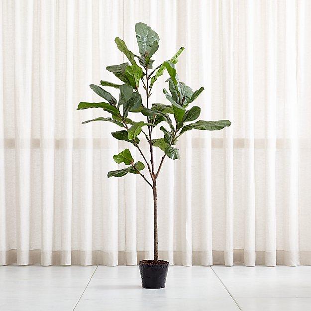 Faux 7' Fiddle Leaf Fig Tree - Image 1 of 12