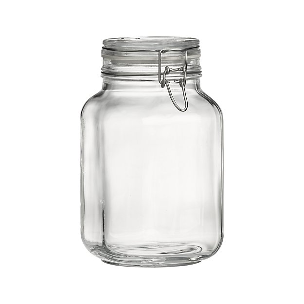 fido 2 liter jar with clamp lid reviews crate and barrel. Black Bedroom Furniture Sets. Home Design Ideas