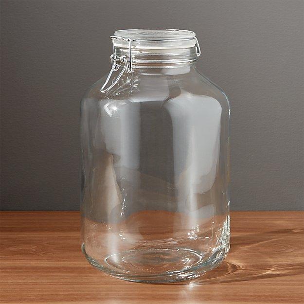 Ltr Glass Jars With Metal Lids
