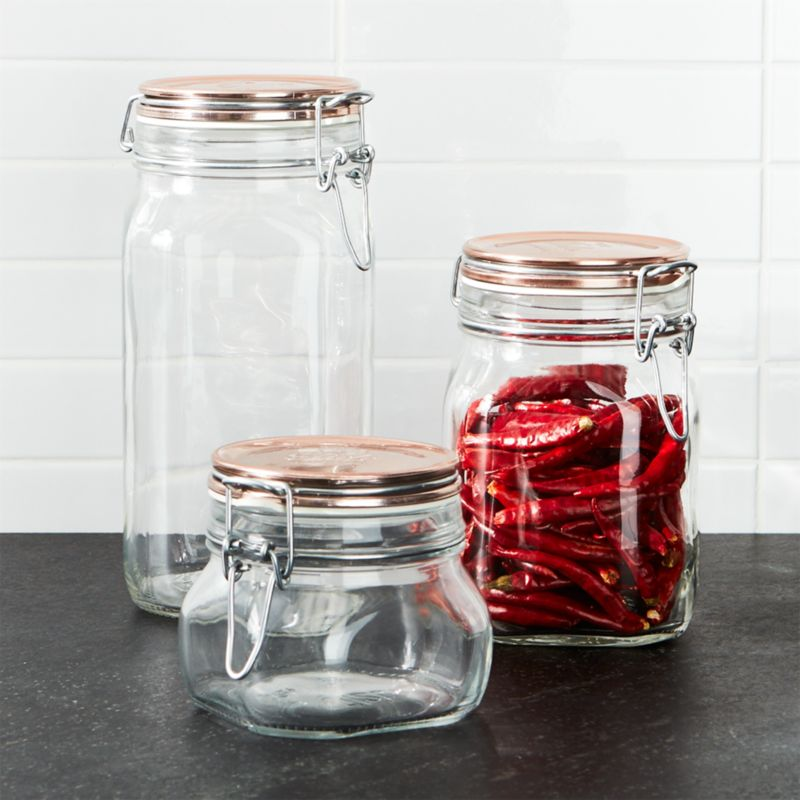 Fido Jars With Copper Clamp Lid Crate And Barrel