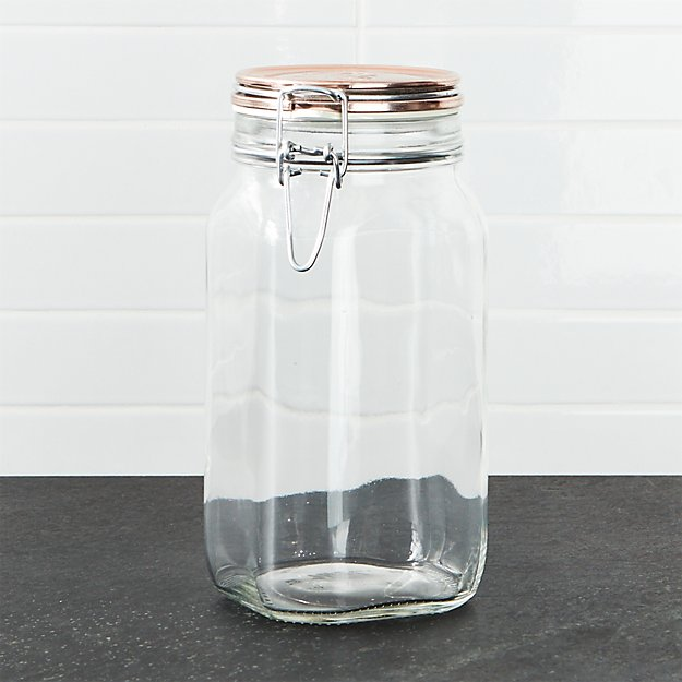 Fido Jar with Copper Clamp Lid 1.5-Liter