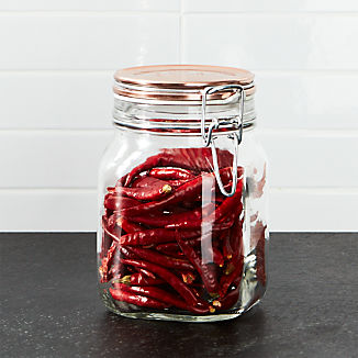 Fido 1-Liter Jar with Copper Clamp Lid