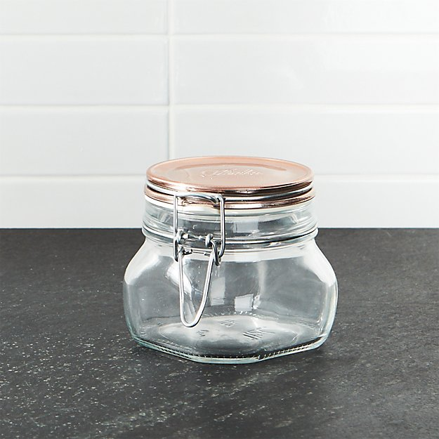 Fido Jar with Copper Clamp Lid .5-Liter