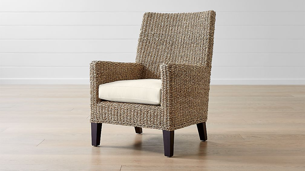 Fiji Woven Chair with Cushion - Image 1 of 6
