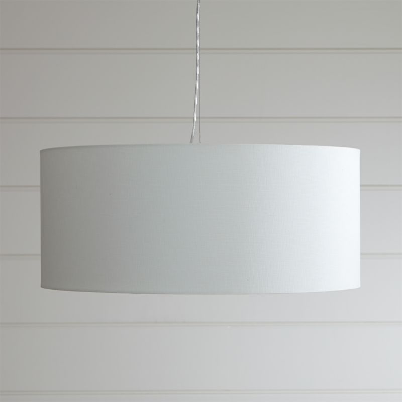 Finley large white pendant light crate and barrel aloadofball Choice Image