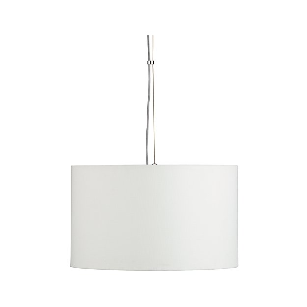 Finley Small White Pendant Light Reviews Crate And Barrel