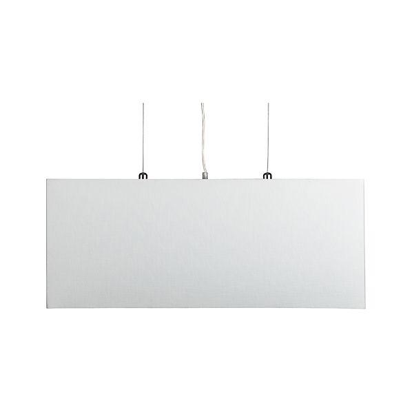 Finley White Rectangle Pendant Lamp