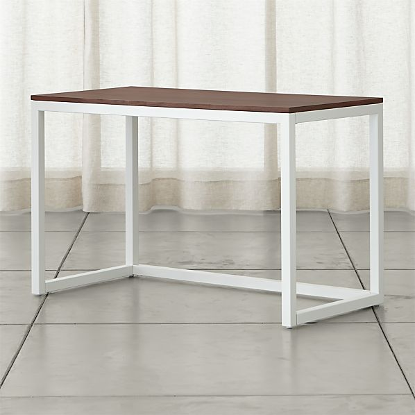 Finn Walnut Top Desk with Salt Base