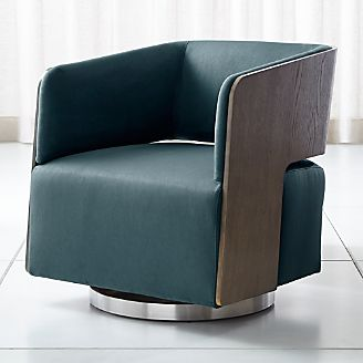 Finn Swivel Chair & Living Room Chairs (Accent and Swivel) | Crate and Barrel