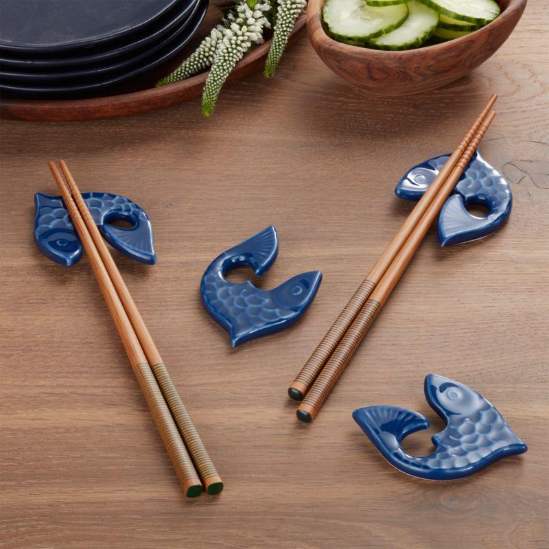 Fish Chopstick Rests Set Of 4 Crate And Barrel