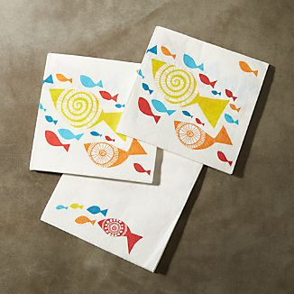 Fish Paper Lunch Napkin Set of 20