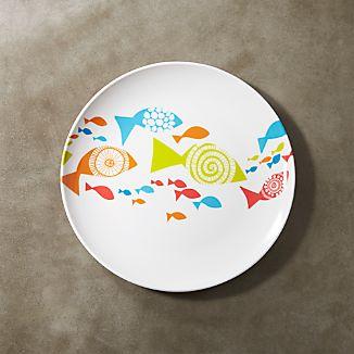 """Fish Melamine 9"""" Plate"""