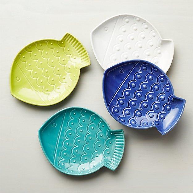 Fish Plates, Set of 4