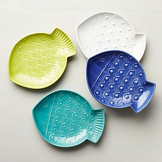 Set of 4 Fish Plates