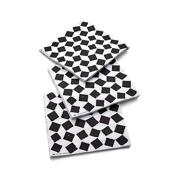 Set of 20 Fish Tile Paper Dinner Napkins