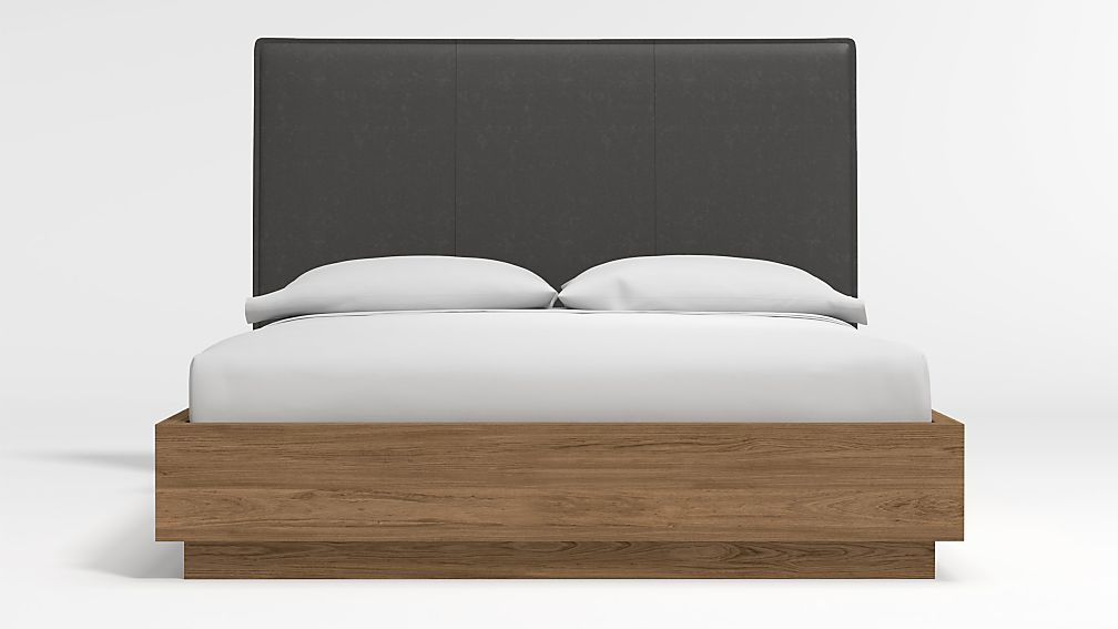 Flange Queen Headboard with Batten Plinth-Base Bed - Image 1 of 3
