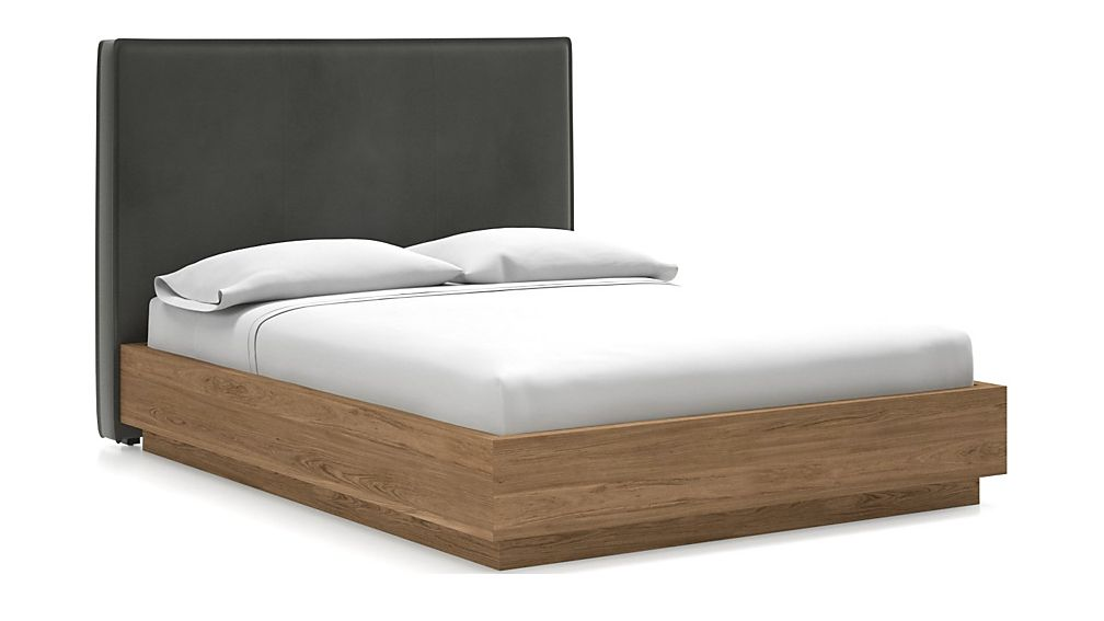 Flange Queen Headboard with Batten Plinth-Base Bed - Image 1 of 1