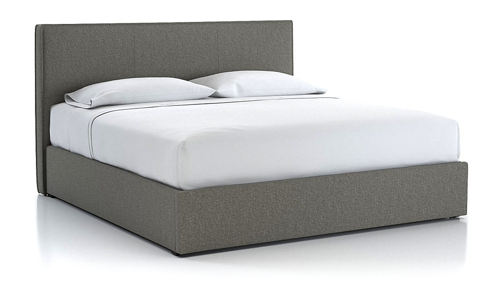 Flange King Upholstered Headboard with Gas-Lift Base Grey - Image 1 of 6