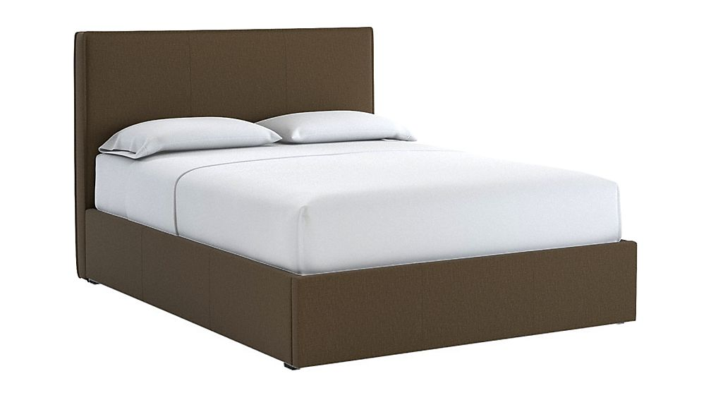 Flange Queen Bed Carbon - Image 1 of 2