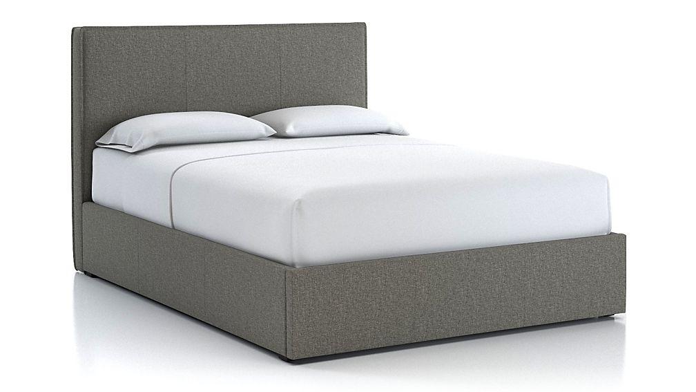 Flange Queen Bed Grey - Image 1 of 2