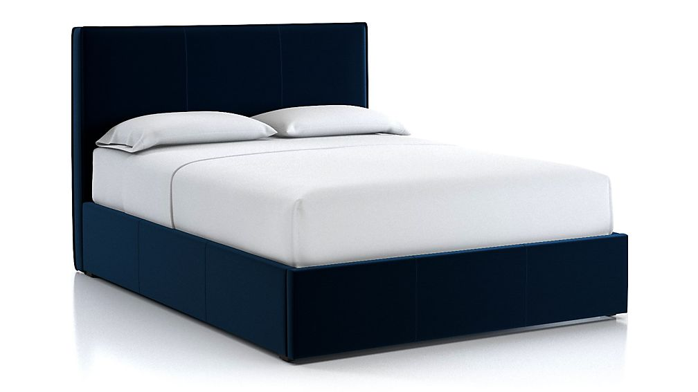 Flange Queen Bed Midnight - Image 1 of 2