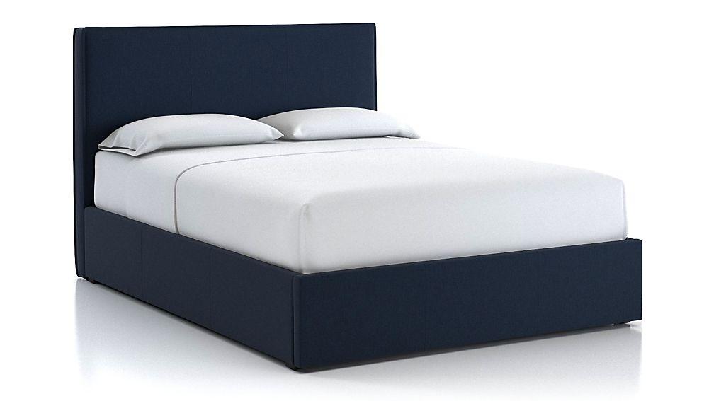 Flange Queen Bed Sapphire - Image 1 of 2