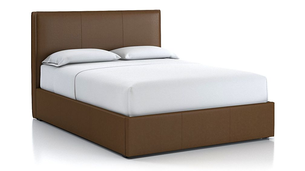 Flange Queen Bed Saddle Faux Leather - Image 1 of 2